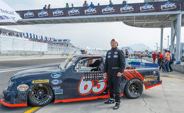 Marco Marín, en el top-ten en la NASCAR Peak México Series