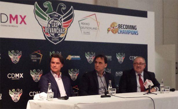 Leyendas de México y Alemania jugarán un amistoso en el Zócalo