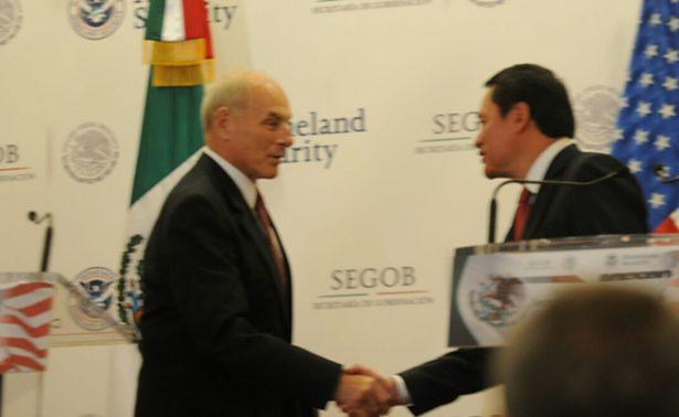Tras gira en México, John Kelly refrenda diálogo bilateral con Osorio Chong