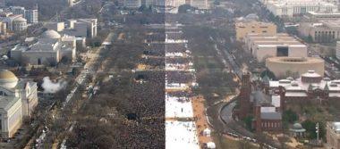 Imagen dice más que mil palabras: Investidura de Trump vs Obama