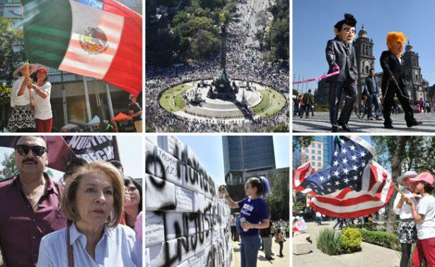 Fotogalería. Así se vivió la marcha contra Trump en la Ciudad de México