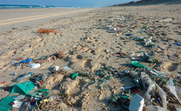 """Investigadores descubren una """"isla de basura"""" en medio del pacífico"""