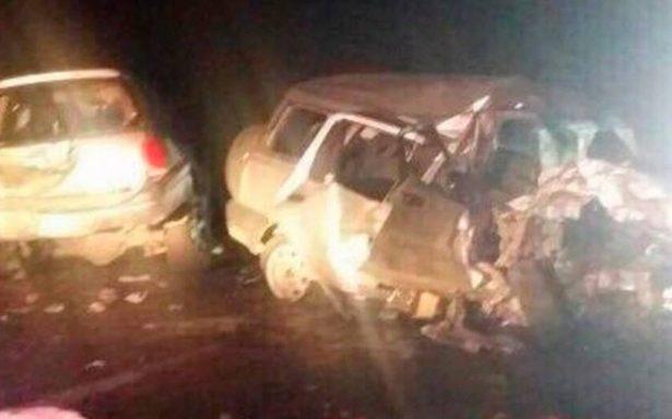Brutal choque deja dos muertos y siete heridos en Matamoros