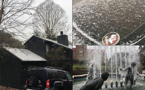 ¡Nieve! Florida se viste de blanco por primera vez en 30 años