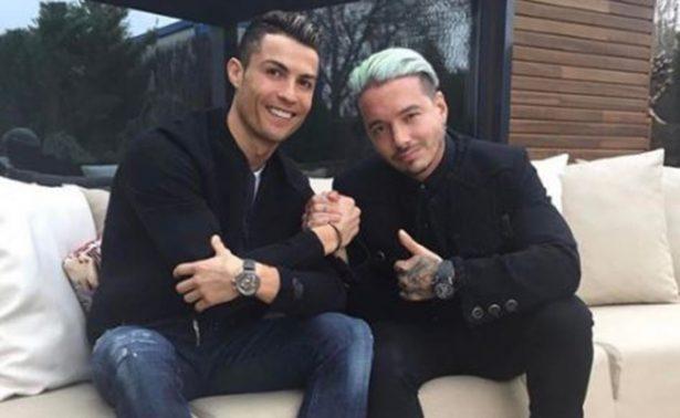 J Balvin presume amistad con Cristiano Ronaldo en Instagram