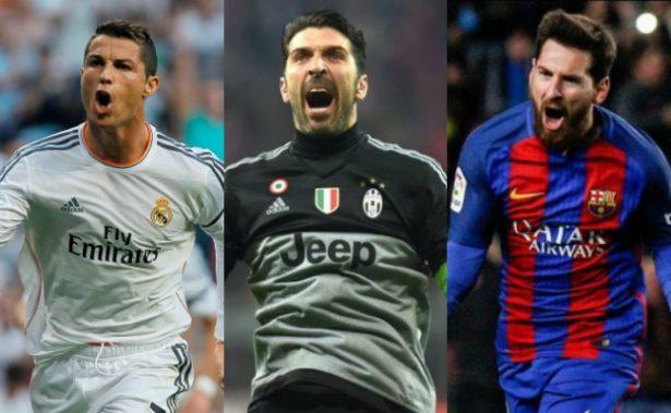Cristiano, Buffon y Messi candidatos al Mejor Jugador