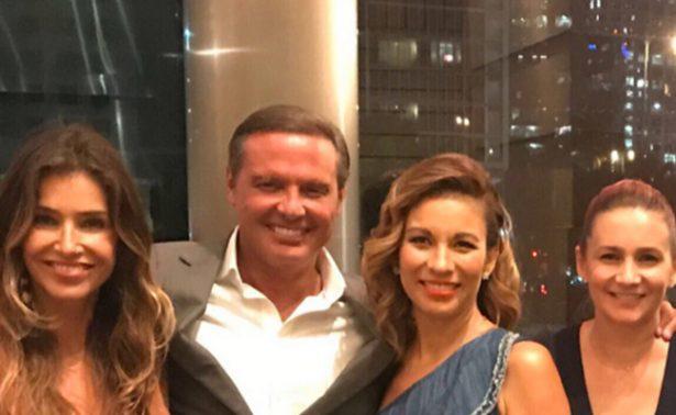 Captan a Luis Miguel con Ingrid Coronado en Miami