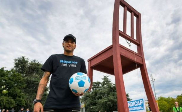 Neymar, el nuevo en embajador de Handicap International