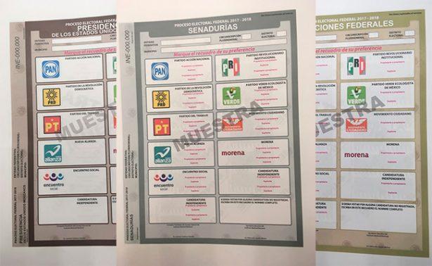 Presentan boletas electorales para 2018; contarán con equidad de género