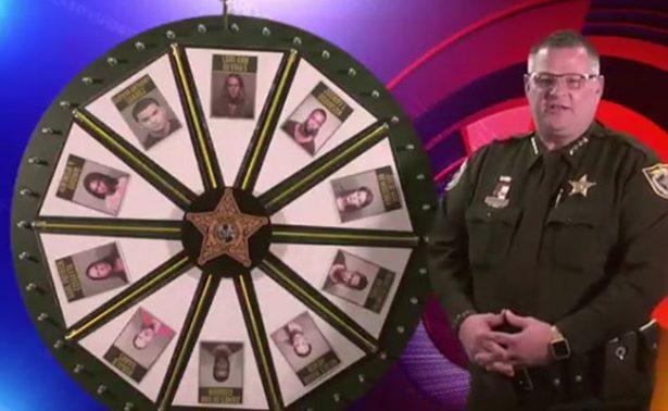 """Policía de Florida juega a """"La rueda de la fortuna"""" para hallar fugitivos"""