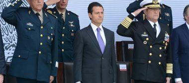 Fuerzas Armadas no le fallan al país ante el crimen: Peña Nieto