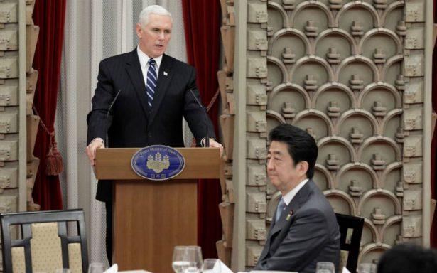 """Pence califica a Norcorea como el """"régimen más tiránico y opresivo""""; alistan nuevas sanciones"""