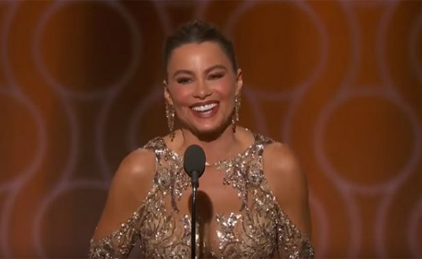 Sofía Vergara hace reír a todos al equivocarse en los Globos 2017