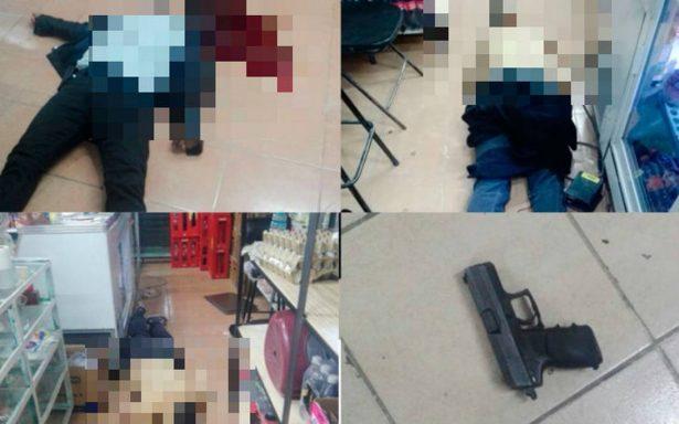 Frustran asalto a tienda en Tecámac; hay un supuesto militar muerto