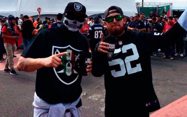 Este es el gran ambiente en el Azteca previo al Raiders vs Patriotas