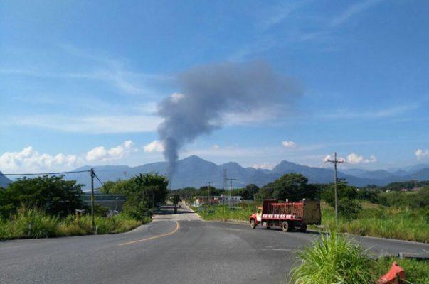 Explosión en ducto de PEMEX, en Amatlán