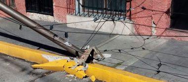 Árboles, láminas y postes caídos tras surada en Orizaba
