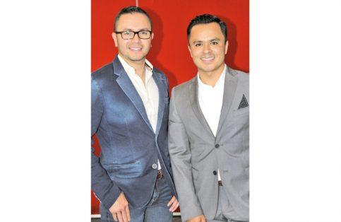 Luis Velasco con Alberto Hernández.