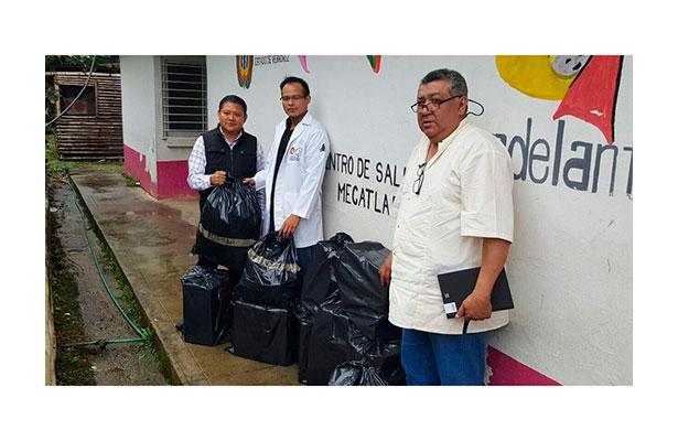 Reciben medicamento centros de salud de la sierra totonaca