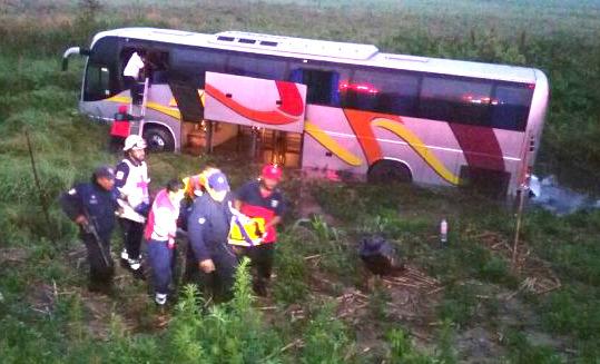 5 heridos tras accidentarse autobús con destino a Xalapa