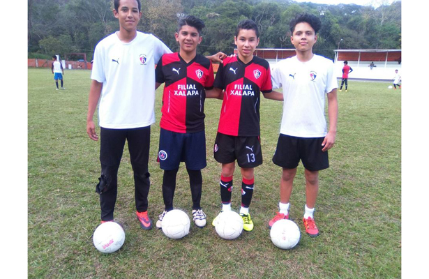 Chicos de la Academia Atlas-Xalapa pasaron visorias en Monteverde