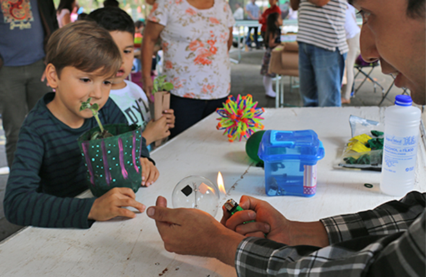 Se realiza para niños Caravana de la Ciencia, en los Berros