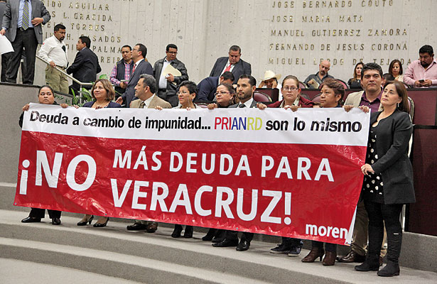 Autorizan renegociar la deuda pública de Veracruz