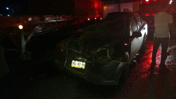 Accidente en El Lencero dejó un lesionado