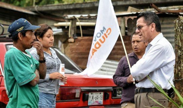 Balean casa del candidato a alcalde de Movimiento Ciudadano por Coscomatepec