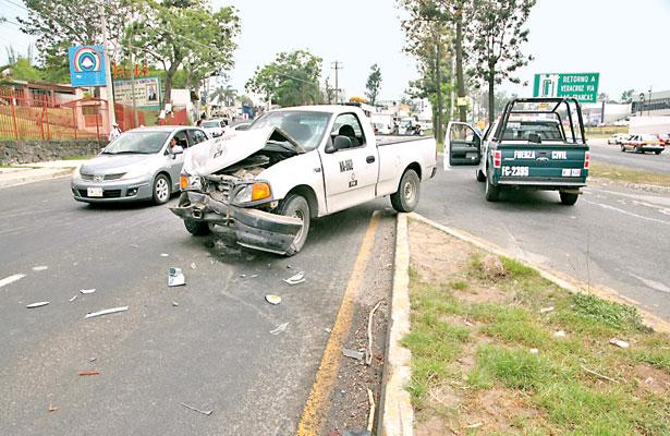 Persecución culminó en choque en Las Trancas; 1 detenido y 4 heridos