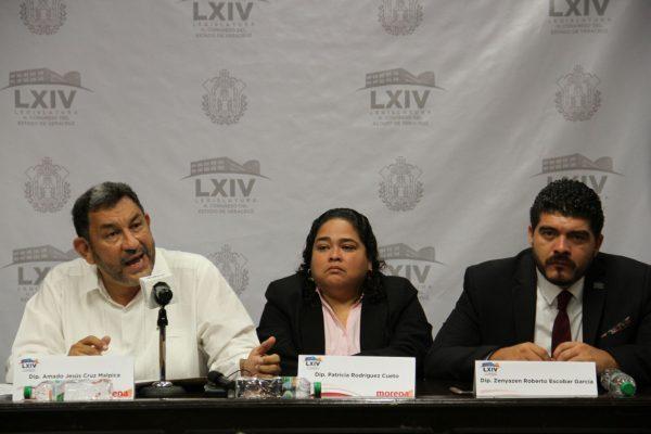 Acusan diputados de Morena al gobernador de desacato; no presentó ajuste al presupuesto, afirman