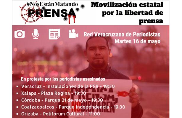 Convocan en Veracruz a movilización por reportero asesinado