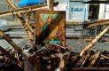 Papantla, Ver.- Intacta quedó una imagen del Sagrado Corazón de Jesús, que se encontraba en el área siniestrada por el fuego. Foto: Luis A. Valera