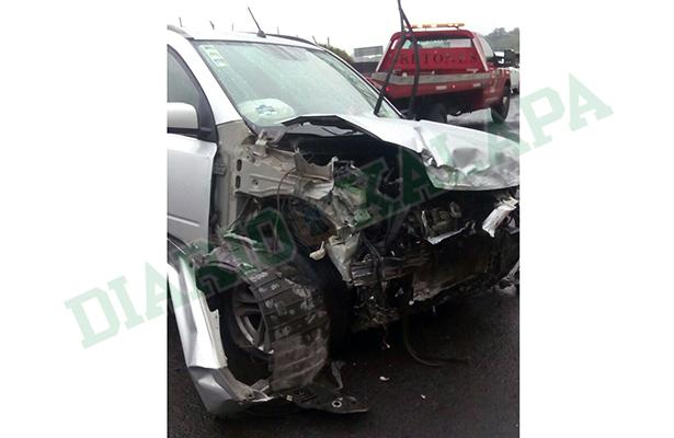 Familia de Perote se accidentó en la autopista a Xalapa