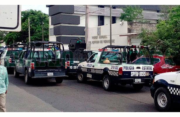 Blindan sede de juicios orales del Puerto de Veracruz