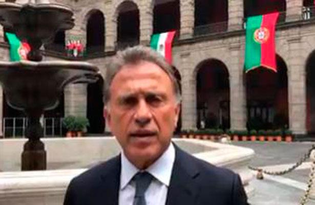 Exige Miguel Ángel Yunes a la PGR actuar con toda severidad contra Duarte