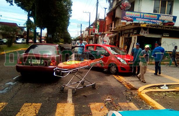 Automovilista lesionada en la Progreso