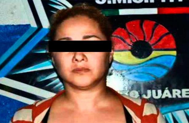 """Detienen a """"Doña Lety"""", causante de violencia en Cancún, entre Puebla y Orizaba"""