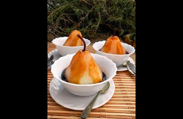 Receta Peras rellenas de arándano