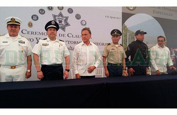 Pide gobernador dar reconocimiento a la PF en el combate a la delincuencia