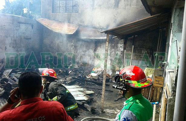 Se prendió fuego dentro de su vivienda