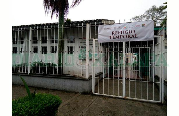 Albergues en Xalapa aún sin recibir gente