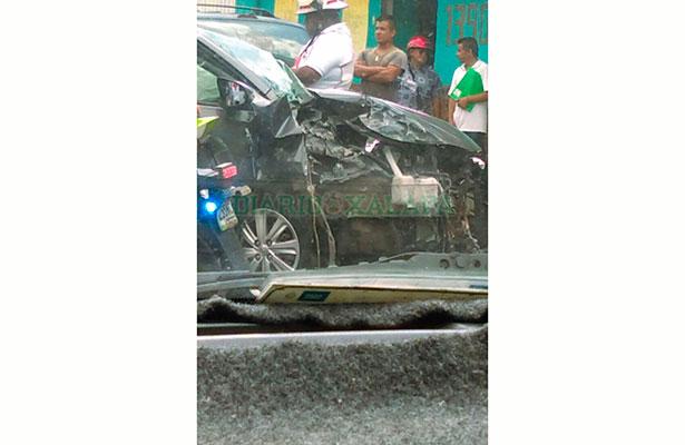 Mujer se accidenta sobre la Ruiz Cortines