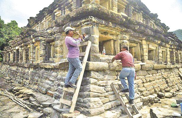 Avanza restauración de la Zona Arqueológica El Tajín