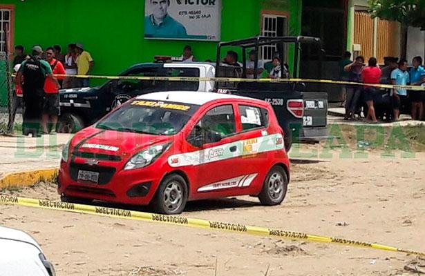 Taxista fue acribillado frente a Centro de Salud