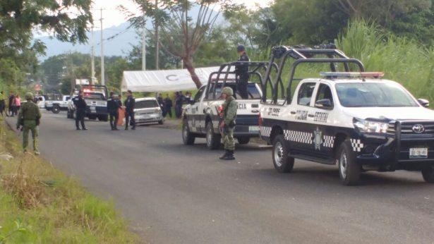 Balacera cerca de retén de policía; al parecer hay dos heridos