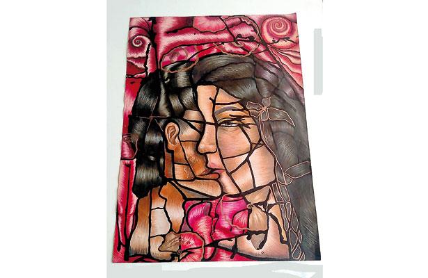 Pintar, la pasión de Kathia Lisset; le gustaría estudiar Artes Visuales