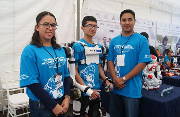 Jóvenes veracruzanos destacan por sus inventos terapéuticos y robóticos
