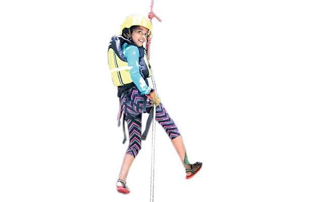 Renata con 10 años de edad es amante de los deportes extremos