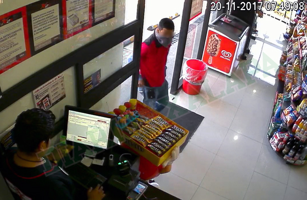 Cámaras de seguridad graban asaltó a X24 de Miguel Alemán, en Xalapa